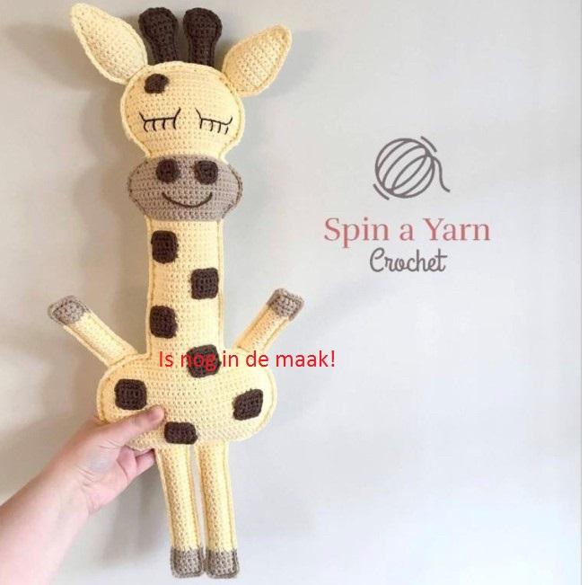 Platte knuffel Giraf